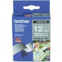 BROTHER Ruban TZeMQL35 (5m) 12mm Laminé Blanc /Gris clair
