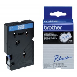 BROTHER Cassette ruban TC203 (7,7m) 12mm Bleu/Blanc