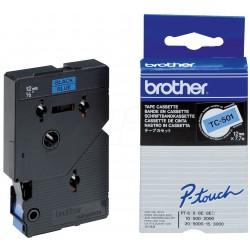 BROTHER Cassette ruban TC501 (7,7m) 12mm Noir/Bleu
