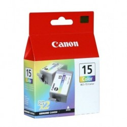CANON Pack 2 Cartouches 3 couleurs BCI15C 2*100 pages