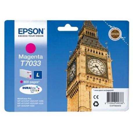 """EPSON Cartouche encre """"Big Ben"""" T7033 Magenta L 800 pages"""
