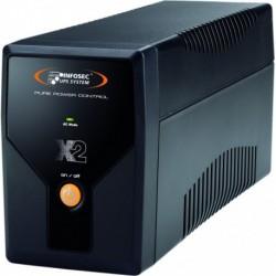 INFOSEC Onduleur Gamme X2 LCD Touch 500 FR/SCHUKO