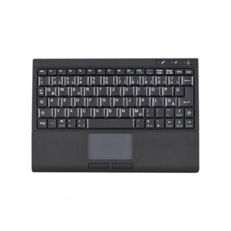 Mini Clavier avec touchpad USB noir