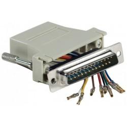 Adaptateur RJ45/DB25m