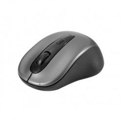 Mini souris optique sans fil 1600 dpi nano USB noire/argent