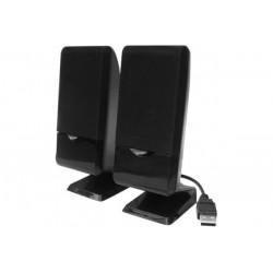 Enceintes stéréo 2.0 4w USB noir