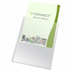 Q-CONNECT Étui simple 2 faces A4 PVC