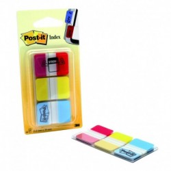 POST-IT Pack de 3 distributeurs INDEX STRONG classiques