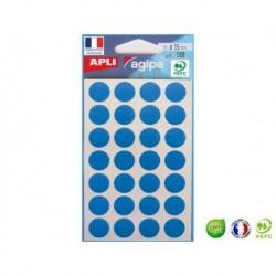 APLI AGIPA 168 pastilles bleues ø 15 mm
