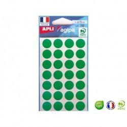 APLI AGIPA 168 pastilles vertes ø 15 mm