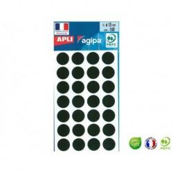 APLI AGIPA 168 pastilles noires ø 15 mm