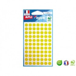 APLI AGIPA 462 pastilles jaunes ø 8 mm