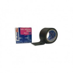 RUBAFIX Toile adhésive MILLE noir 38 mm x 3 m