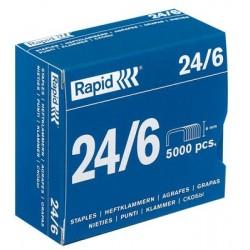 Boîte de 5 000 agrafes type 24/6 galva