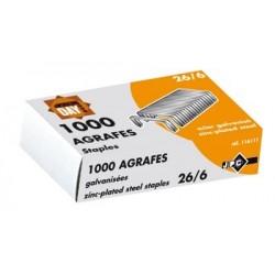 Boîte de 1 000 agrafes type 26/6 galva