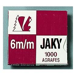 Boîte de 1 000 agrafes type JAKY 6 cuivrée