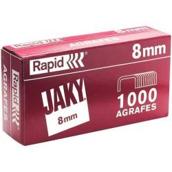 Boîte de 1 000 agrafes type JAKY 8 cuivrée