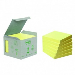 POST-IT Boîte de 6 blocs recyclés jaune