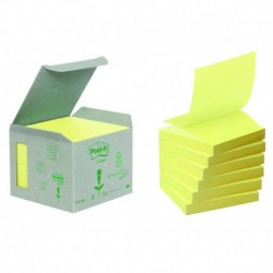 POST-IT Boîte de 6 blocs de recharges Z-NOTES recyclées jaune
