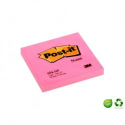 POST-IT Bloc couleurs néon rose 76 x 76 mm