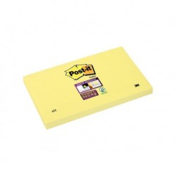 POST-IT Bloc jaune SUPER STICKY 76 x 127 mm
