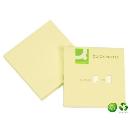 Q-CONNECT Bloc jaune Quick Notes 75 x 75 mm