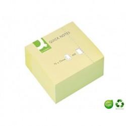 Q-CONNECT Bloc cube Quick Notes jaune