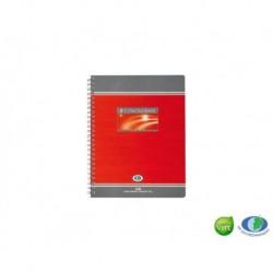 CONQUERANT Cahier 7 spirale L17 x H22 cm 100 pages Réglure 5 x 5