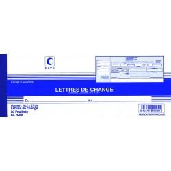 ELVE Carnet à souche traites normalisées/ Lettres de change