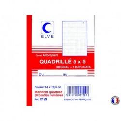 ELVE Manifold quadrillé dupli 10 x 14 cm