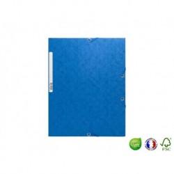 EXACOMPTA Chemise 3 rabats à élastique Scotten bleu