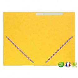 Chemise 3 rabats à élastique jaune