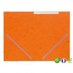 Chemise 3 rabats à élastique orange