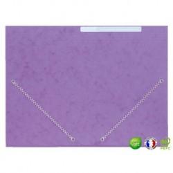 Chemise 3 rabats à élastique violet