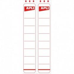 APLI-AGIPA Étiquettes Blanches adhésives dos 7 cm