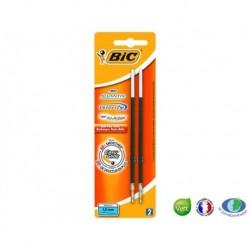 BIC Lot de 2 recharges de stylo bille Atlantis Classic™ Noir