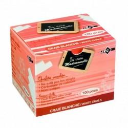 JPC Boîte de 100 craies enrobées Blanc