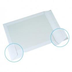GPV 100 pochettes à dos carton Kraft blanc 24