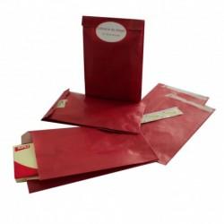 APLI AGIPA 250 pochettes plates Kraft 12,5 x 4,5 x 20 Rouge