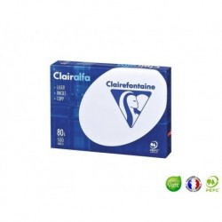 CLAIREFONTAINE Ramette papier Clairalfa A5 80g blanc