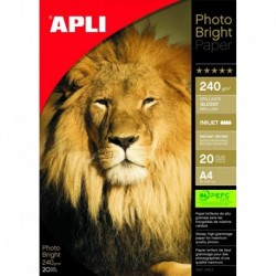 APLI Papier photo ultra brillant A4 240 g