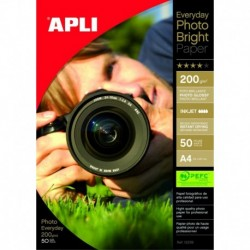 APLI Papier photo ultra brillant A4 200 g