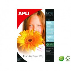 APLI AGIPA Pochette de 100 feuilles A4 Everyday 180 g