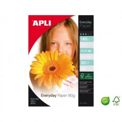 APLI AGIPA Pochette de 20 feuilles A4 Everyday 180 g
