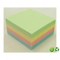 Q-CONNECT Bloc cube Quick notes pastel