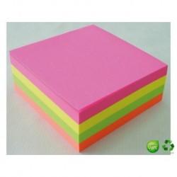 Q-CONNECT Bloc cube Quick notes néon