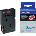 BROTHER Cassette ruban TC401 (7,7m) 12mm Noir/Rouge