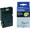 BROTHER Cassette ruban TC601 (7,7m) 12mm Noir/Jaune