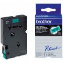 BROTHER Cassette ruban TC701 (7,7m) 12mm Noir/Vert