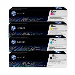 HP Pack 4 Cartouches Toner n°126A Noir Cyan Magenta Jaune